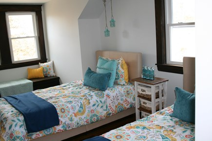 Bourne, Buzzards Bay Cape Cod vacation rental - One of two rooms with twin beds