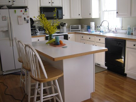 Brewster Cape Cod vacation rental - Large central island with bar stool seating