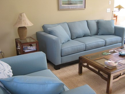 Brewster Cape Cod vacation rental - Oversized, plush furniture, ceiling fan, Central AC