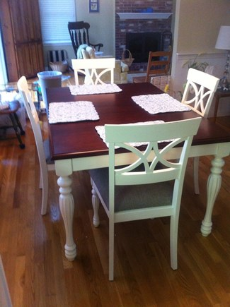 Brewster Cape Cod vacation rental - Dining table for 6 adults. Expands for guests.