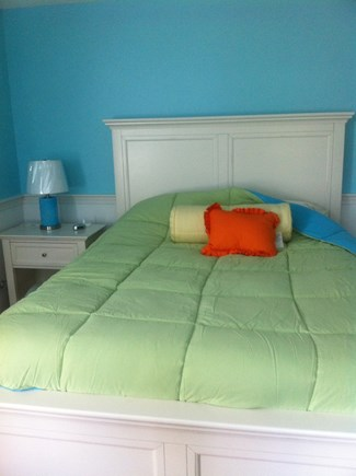 Brewster Cape Cod vacation rental - First floor Queen bedroom with adjoining full bath & W/D
