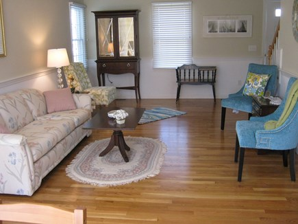 Brewster Cape Cod vacation rental - Comfortable living room with lovely hardwood floors