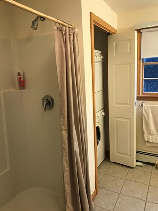 West Dennis Cape Cod vacation rental - First floor bathroom with washer and dryer