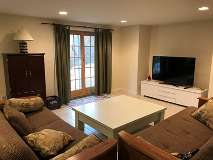 West Dennis Cape Cod vacation rental - Walkout basement with two futons, and large screen smart TV