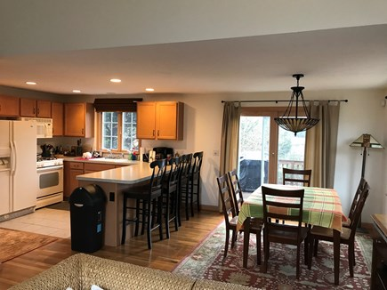 West Dennis Cape Cod vacation rental - Kitchen and dining area