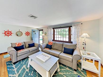85 Cynthia Lane, Dennis Port Cape Cod vacation rental - A sofa opens to reveal a queen memory foam sleeper