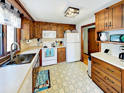 85 Cynthia Lane, Dennis Port Cape Cod vacation rental - Well-equipped kitchen includes newer quality all-white appliances