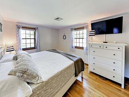 "85 Cynthia Lane, Dennis Port Cape Cod vacation rental - The 2nd bedroom includes a king-size bed and 42"" HD LED TV"