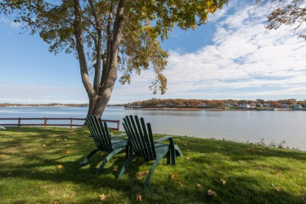 Bourne, Buzzards Bay Cape Cod vacation rental - Relax and sip your coffee on the Bay :)