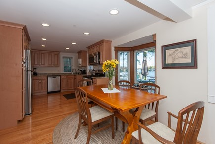 Bourne, Buzzards Bay Cape Cod vacation rental - Dining room with view to kitchen