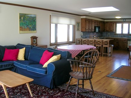 Chatham Cape Cod vacation rental - Living room looking towards the dining area and kitchen