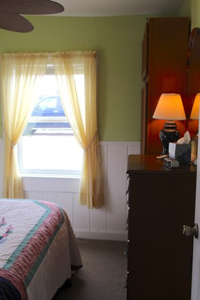 Truro Cape Cod vacation rental - Bedroom with queen bed, large bureau, closet