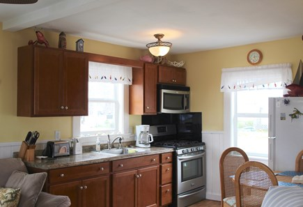 Truro Cape Cod vacation rental - Fully equipped kitchen with 6-burner gas range