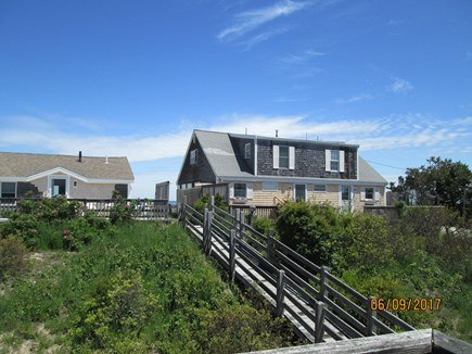 Sandwich, East Sandwich Beach Cape Cod vacation rental - View from deck. Stairs to the beach
