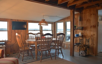 Mashpee Cape Cod vacation rental - Dining area.  Table expands to seat 8 w/two additional leaves