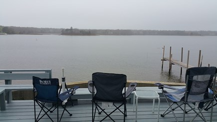 Mashpee Cape Cod vacation rental - Foggy April morning. Don't worry.....the sun will come out!