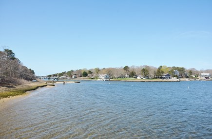 Mashpee Cape Cod vacation rental - South View Out to Little River into Waquoit Bay to open Ocean.