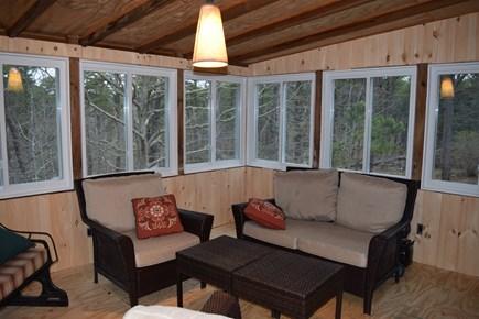 Wellfleet Cape Cod vacation rental - Sun porch overlooking conservation woods