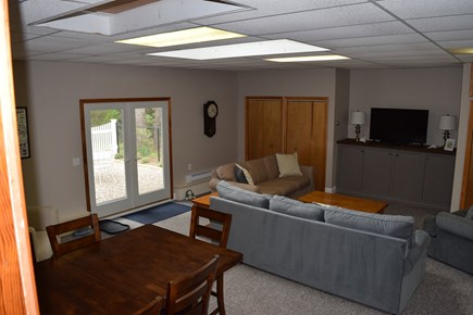 Wellfleet Cape Cod vacation rental - Over sized Family Room leading out to Patio