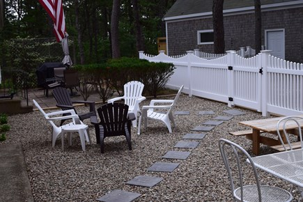 Wellfleet Cape Cod vacation rental - Fenced in Patio and yard off of Family room and living room doors