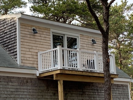 Wellfleet Cape Cod vacation rental - Guest house deck off living room facing away from main house