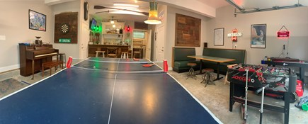 Wellfleet Cape Cod vacation rental - Game room - Piano, darts, ping pong, foosball, bar, TV, half bath