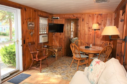 Dennis Port Cape Cod vacation rental - Cozy dining area and TV