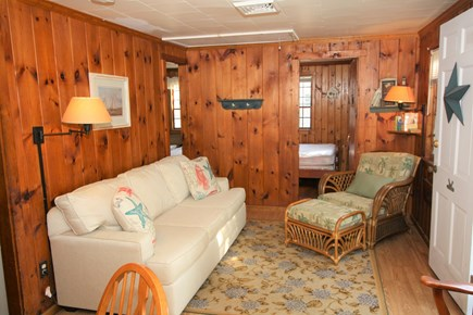 Dennis Port Cape Cod vacation rental - Living room with window A/C unit