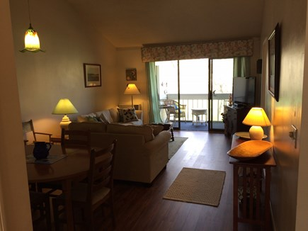Brewster Cape Cod vacation rental - Living area with sliders to the deck and golf course views