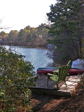 Harwich Cape Cod vacation rental - Private dock on Robbins Pond in the backyard