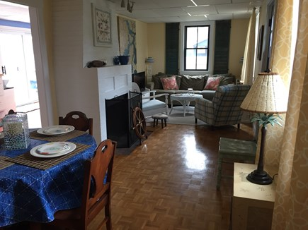 Falmouth, Teaticket Cape Cod vacation rental - Combination living and dining room.