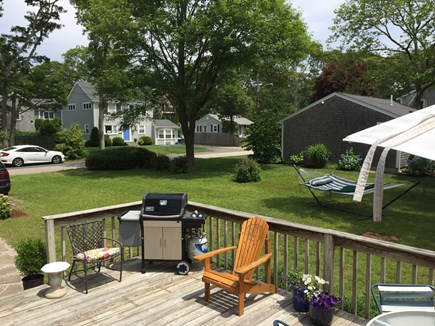 Falmouth, Teaticket Cape Cod vacation rental - Deck has a gas grill, and plenty of seating. Outdoor shower.