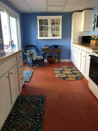 Falmouth, Teaticket Cape Cod vacation rental - Sunny kitchen with slider to large deck.