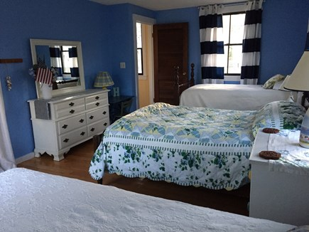 Falmouth, Teaticket Cape Cod vacation rental - Roomy second bedroom offers two twins and a double bed.