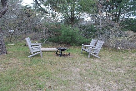 Eastham Cape Cod vacation rental - Fire pit and seating area