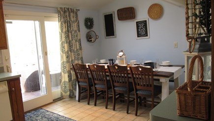 West Yarmouth Cape Cod vacation rental - Seating for 10,sliders to deck grilling