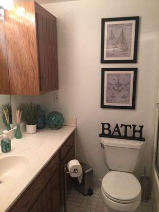 West Yarmouth Cape Cod vacation rental - Main floor bath, tub, shower, blowdryer