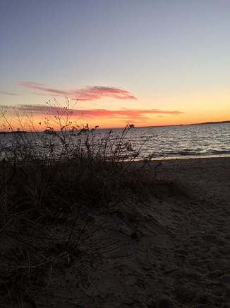West Yarmouth Cape Cod vacation rental - Don't forget to visit the shore at sunset, 1/2 mile away.