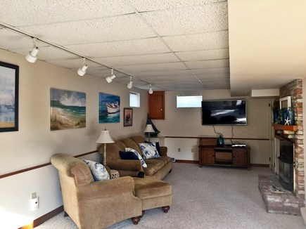 West Yarmouth Cape Cod vacation rental - Entertainment room,gas fireplace, smart TV premier cable,