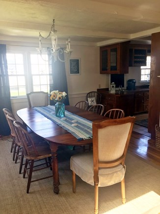 West Yarmouth Cape Cod vacation rental - Dining area, seating for 8 ,coffee station