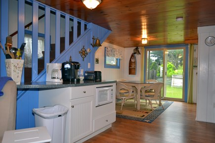 Dennisport Cape Cod vacation rental - Kitchen and eating area.