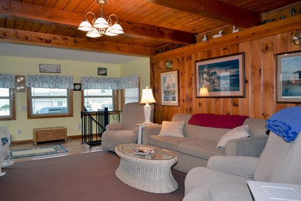 Dennisport Cape Cod vacation rental - Living room open to the ocean breeze.