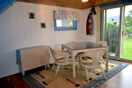 Dennisport Cape Cod vacation rental - Eat in kitchen. Leads to private back yard.