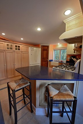 Brewster Cape Cod vacation rental - A spacious fully equipped modern kitchen with space to hang out.