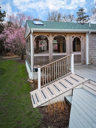 Brewster Cape Cod vacation rental - Big deck off the house for sunning, eating and an outdoor shower.
