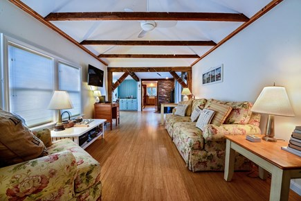 Brewster Cape Cod vacation rental - Comfortable couch and chairs makes this a social center.