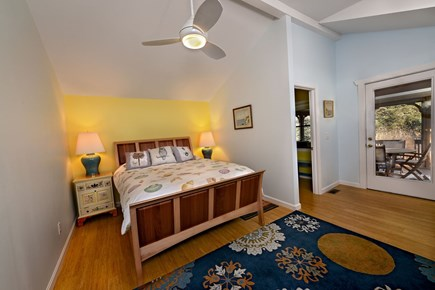 Brewster Cape Cod vacation rental - Main bedroom has wonderful light with private bath.