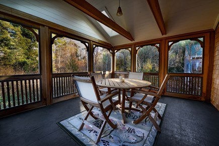 Brewster Cape Cod vacation rental - Wonderful screened porch is a favorite of most guests.