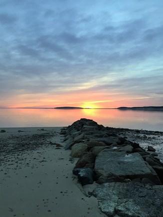 Wellfleet Cape Cod vacation rental - Jetty sunset!