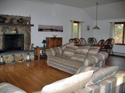 Truro Cape Cod vacation rental - Living room, kitchen, dining area all are open to each other!